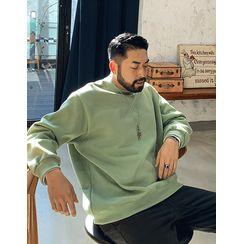 GERIO - Letter-Printed Oversized Sweatshirt