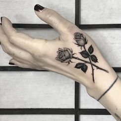 HANZ HAZEL - Rose Waterproof Temporary Tattoo