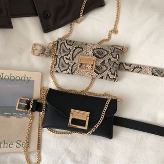 Charm n Style - Faux Leather Belt Bag (Various Designs)