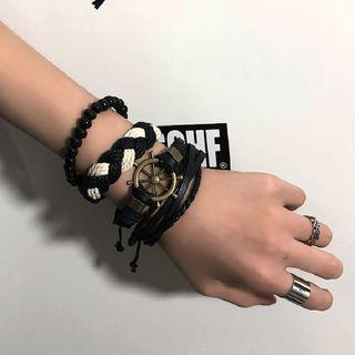 Porstina(ポルスティナ) - Woven Beaded Layered Bracelet