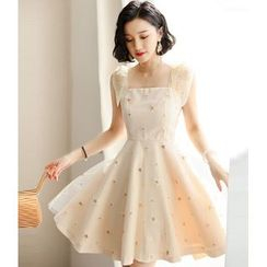 NIAT - Star Sleeveless A-line Party Dress