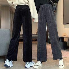 Chelstin - Chenille Straight Leg Pants