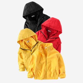 Happy Go Lucky - Kids Hooded Jacket