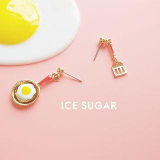 ICE SUGAR - 蛋不對稱耳墜
