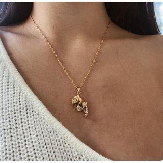 Gemsha - Rose Pendant Necklace