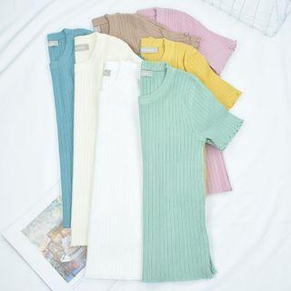 BAIMOMO - Short-Sleeve Knit Top