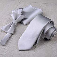 Prodigy - Set: Plain Neck Tie + Bow Tie + Pocket Square