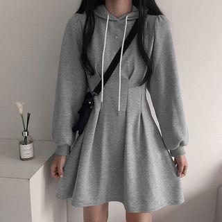 WEEKEND BLOOPERS - Mini A-Line Hoodie Dress