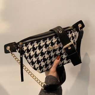 FINO - Houndstooth Chain Sling Bag