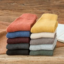 Mimiyu - Set Of 5: Fleece Lined Socks