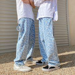Prep Soul - Paisley Print Wide-Leg Jeans