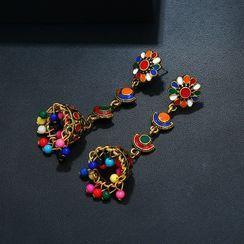 Zibliss - Alloy & Bead Dangle Earring
