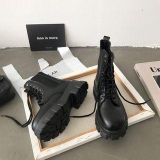 DURAC - 仿皮系带短靴