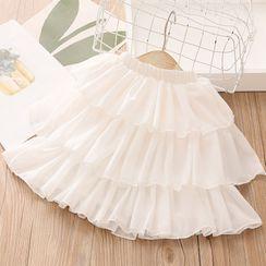 Seashells Kids - Kids Elastic-Waist Tiered Skirt