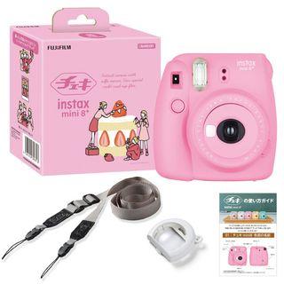 Fujifilm - Fujifilm Instax Mini 8 Plus Instant Camera Box Set (STRAWBERRY)