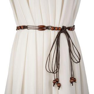 Palmi - Wood Beaded Woven Belt