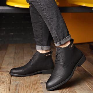 Kayne H - 仿皮饰鞋头踝靴