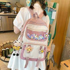 Novila(ノビラ) - PVC Panel Color Block Backpack