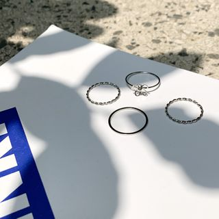 CHERRYKOKO - Flower Stacking Ring Set (4 PCS)