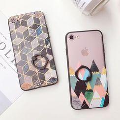 Baripa(バリパ) - Geometric Print iPhone 6 / 6 Plus / 7 / 7 Plus Case