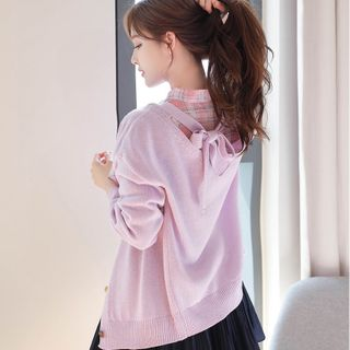 MyFiona - Tie-Back Loose-Fit Cardigan