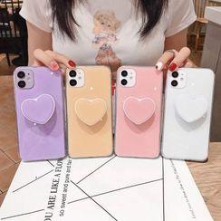 NISI - Heart Stand Phone Case - iPhone 11 Pro Max / 11 Pro / 11 / SE / XS Max / XS / XR / X / SE 2 / 8 / 8 Plus / 7 / 7 Plus
