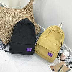 Sosara - Letter Tag Canvas Backpack