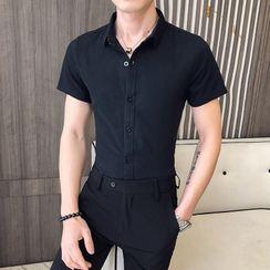 Andrei(アンドレイ) - Plain Short-Sleeve Shirt