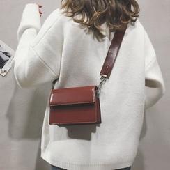 Youshine - Faux Leather Flap Crossbody Bag