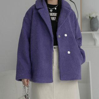 Heynew - Double-Breasted Fleece Jacket