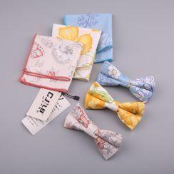 Little Town - 套裝: 碎花手帕 + 蝴蝶結領帶