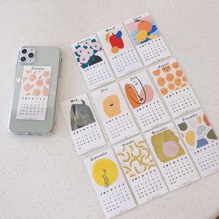 Wild Pony - Transparent Phone Case with Calendar Card for  iPhone 6S / 6S Plus / 7 / 7 Plus / 8 / 8 Plus / X / XS / XR / XS Max / 11 /11 Pro / 11 Pro Max