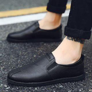 JACIN - Faux Leather Slip Ons