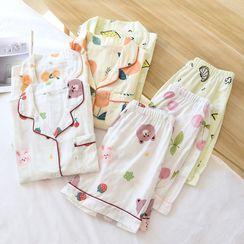 Dogini - Bear Pajama Set