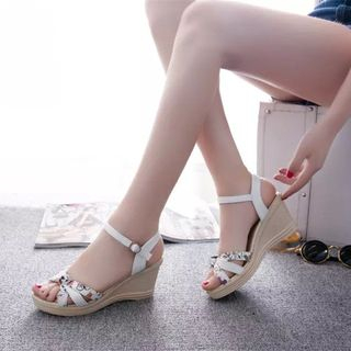 Artiz - Ankle Striped Wedge Sandals