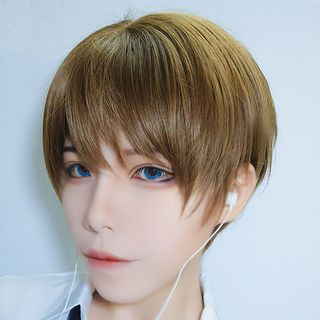 Aynu - Short Full Wig - Straight Cut / Hair Care Set