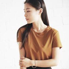 YARU - Short-Sleeve Plain T-Shirt
