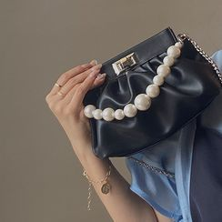 NiniChloe - Faux Pearl Mini Handbag