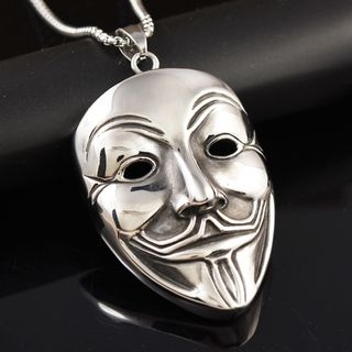 Soosina - Stainless Steel Mask Pendant Necklace