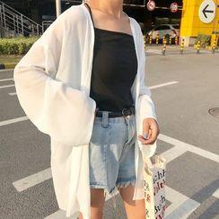 Janerium - Long Chiffon Jacket