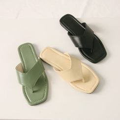 Wifky - Thong Pleather Flip-Flops