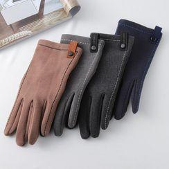 Alaysia - 配色饰缝线手套