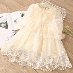Seashells Kids - Kids Long-Sleeve Lace Dress