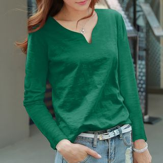 COOLIN - Plain Long-Sleeve T-Shirt