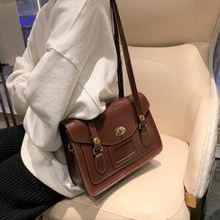 MiyaNeko - Faux Leather Satchel Bag