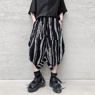 Bjorn - Striped Print Capri Pants