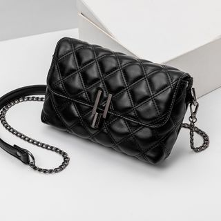 BAUQBAU - Faux Leather Quilted Crossbody Bag
