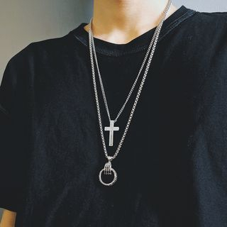 InShop Watches - Ring Chain Necklace / Cross Chain Necklace / Set
