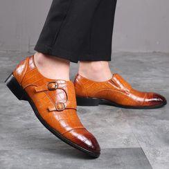 Kayne H - 尖頭鱷魚紋鞋