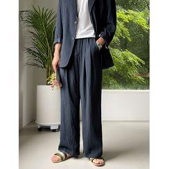 JOGUNSHOP - Linen Blend Wide Shorts / Pants
